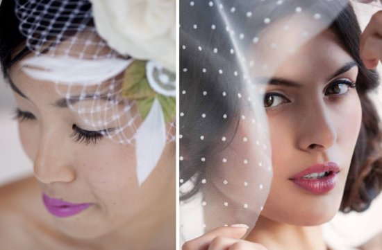 bridal beauty inspiration wedding hair makeup pink lips elegant veils
