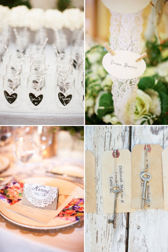unique wedding reception ideas escort cards DIYs