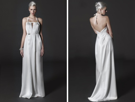 gorgeous Etsy wedding dresses handmade bridal gowns backless 3