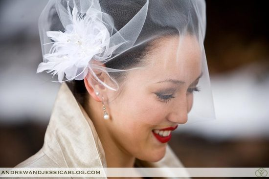bridal beauty inspiration red lips wedding makeup 2