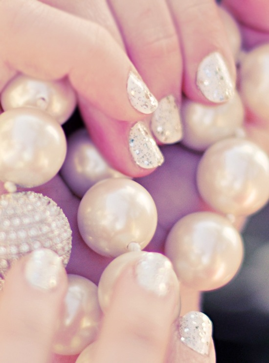 wedding worthy manicures for the fashion forward bride white gold 3