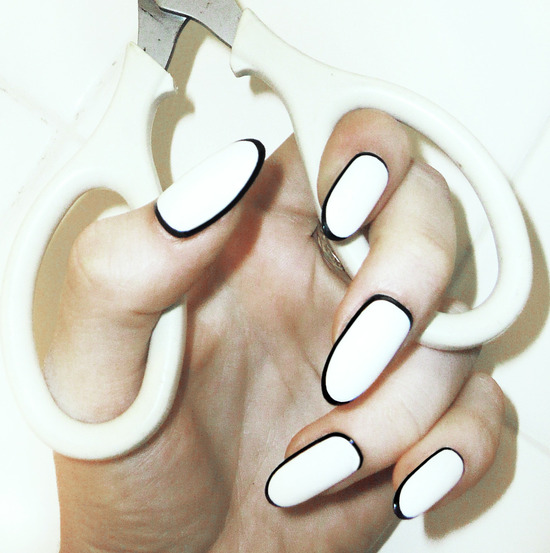 wedding worthy manicures for the fashion forward bride white black