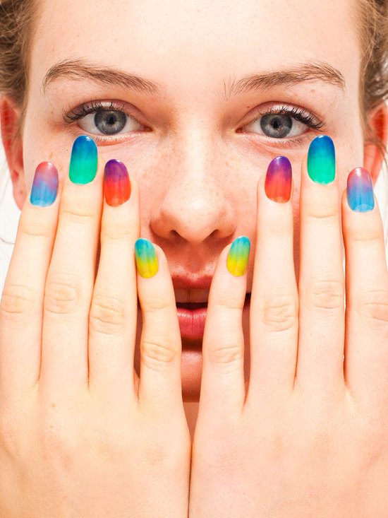wedding worthy manicures for the fashion forward bride rainbow