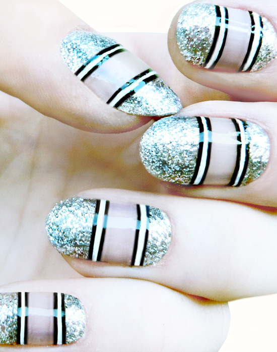 wedding worthy manicures for the fashion forward bride metallic stripes