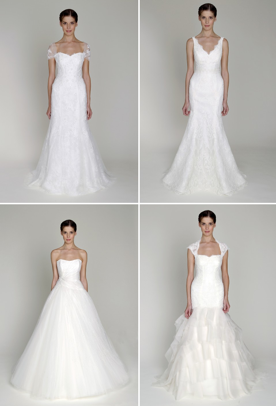 Affordable designer bridal gowns bliss by monique for Cheap modern wedding dresses