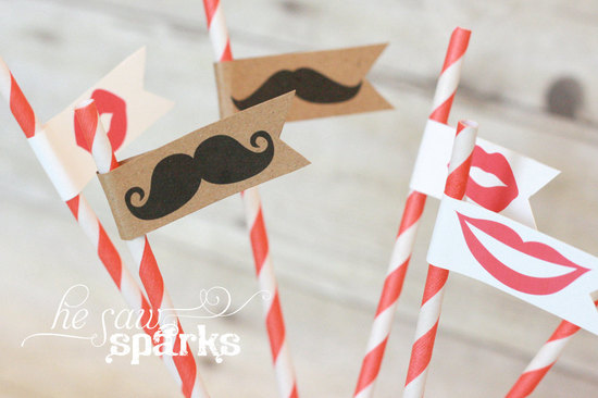 fun wedding details for the reception mustache theme wedding finds diy straws