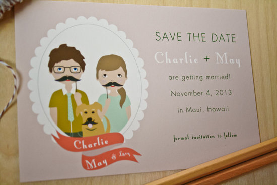 fun wedding details for the reception mustache theme wedding finds cute save the date