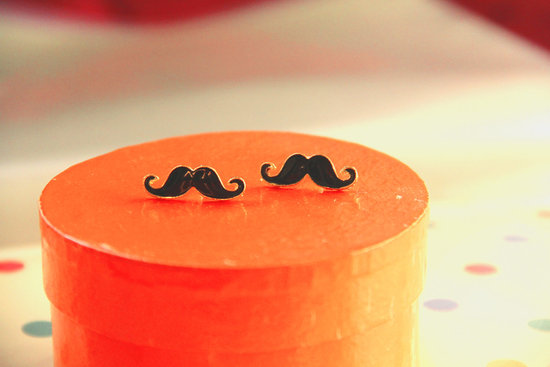 cute mustache earrings wedding gifts for bridesmaids
