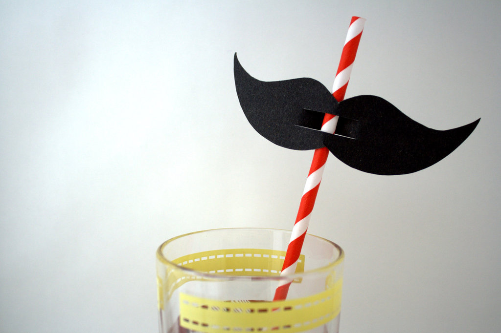 fun wedding details for the reception mustache theme wedding finds straws