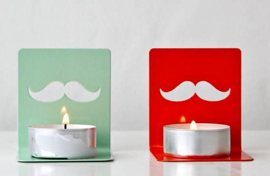 fun wedding details for the reception mustache theme wedding finds votive holders
