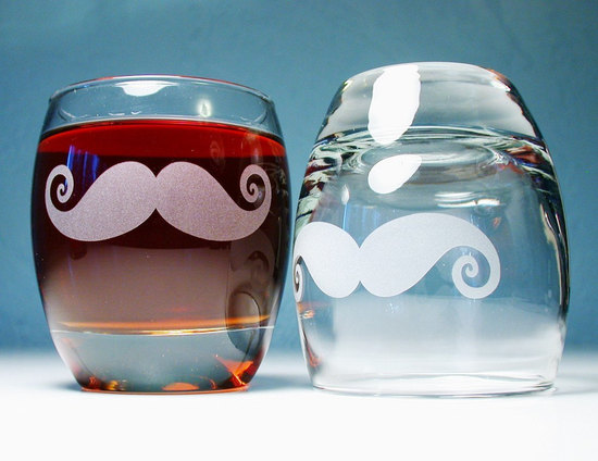 fun wedding details for the reception mustache theme wedding finds bride groom glasses