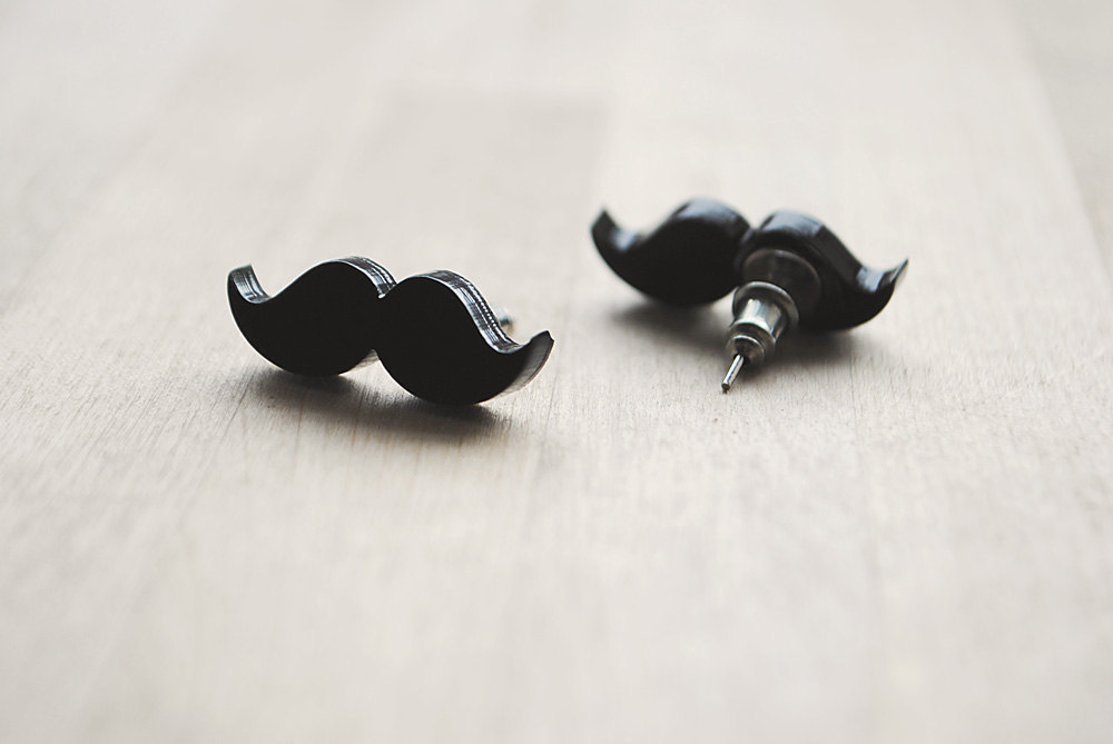 Fun Wedding Details For The Reception Mustache Theme Finds Stud Earrings