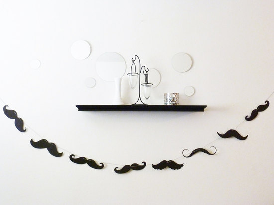 fun wedding details for the reception mustache theme wedding finds modern garland