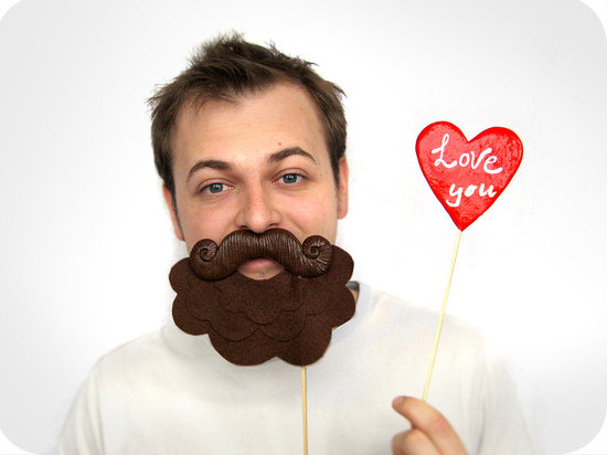 fun wedding details for the reception mustache theme wedding finds photo booth props