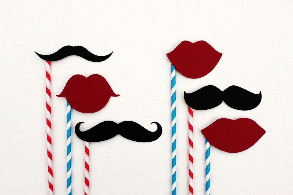 mustache wedding details photo booth props for wedding reception