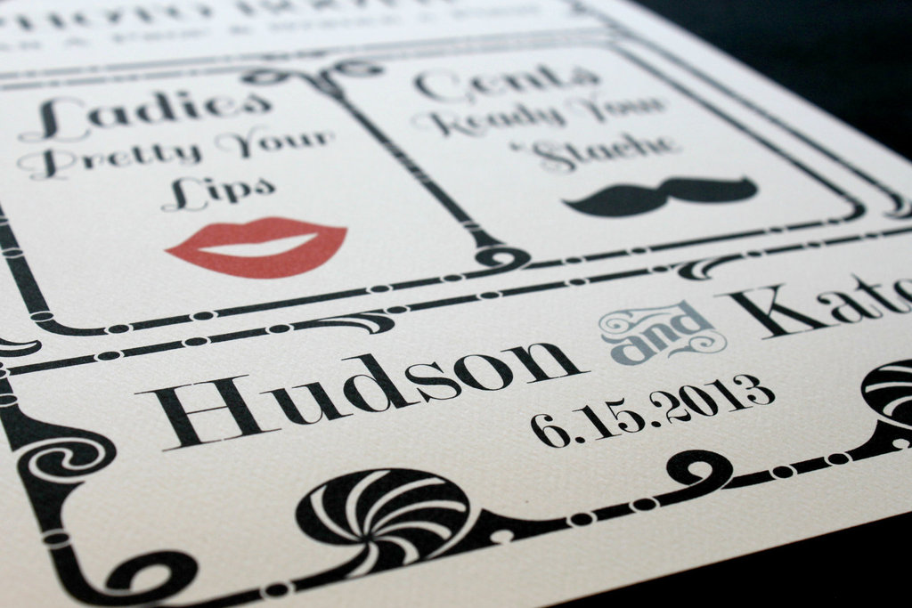 fun wedding details for the reception mustache theme wedding finds photobooth sign