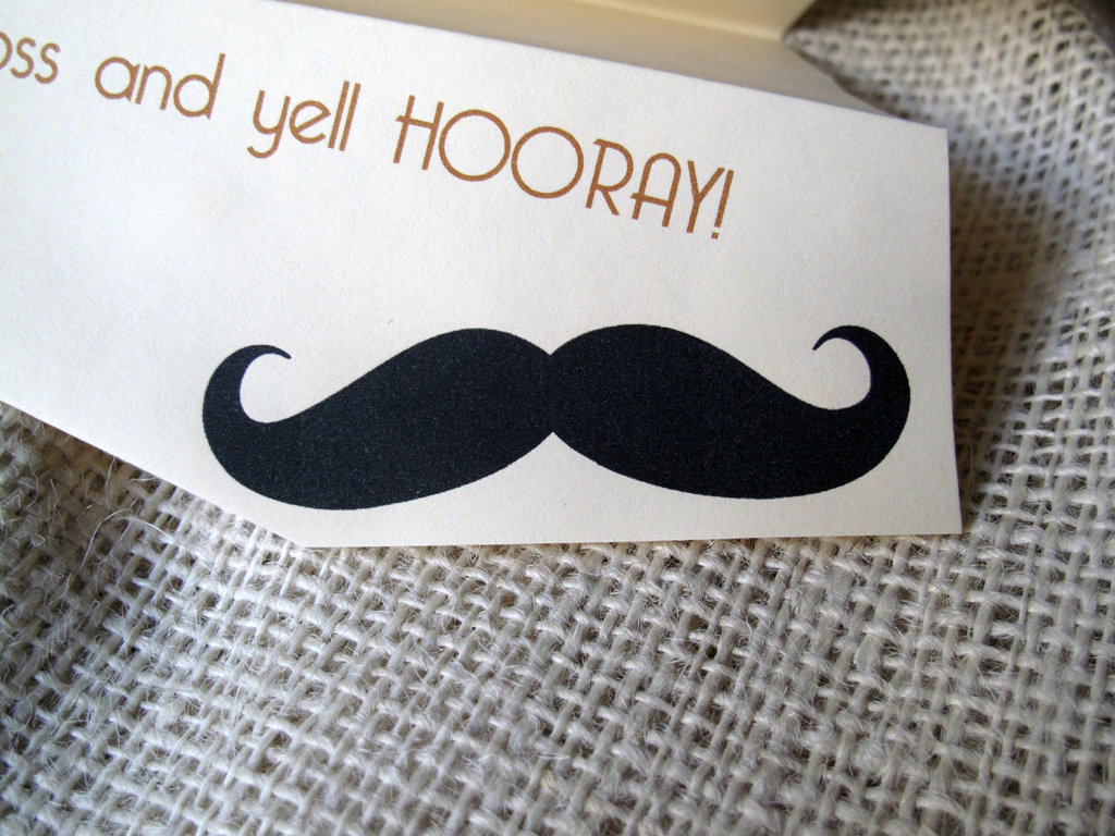 fun wedding details for the reception mustache theme wedding finds 3