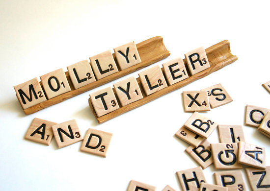 edible wedding finds Scrabble tiles candy