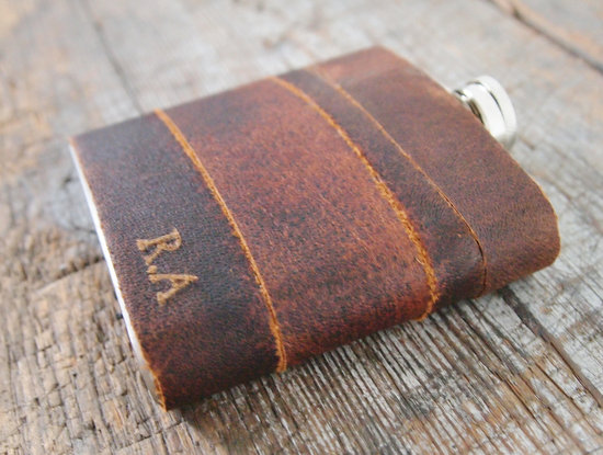 rad wedding gifts for groomsmen best man leather flask engraved