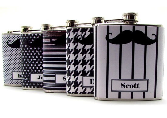 rad wedding gifts for groomsmen best man mustache flasks