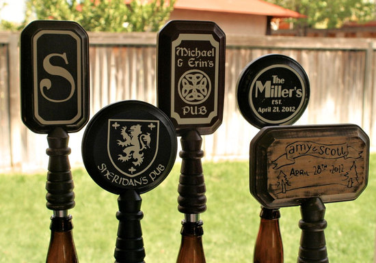 rad wedding gifts for groomsmen best man beer tap handles