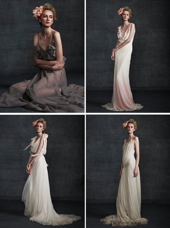 photo of Stunning Wedding Dresses in Beige and Blush