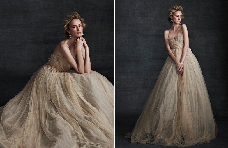 elegant wedding gowns samuele couture 2013 wedding dress beige