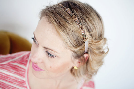 dainty bridal headband vintage inspired
