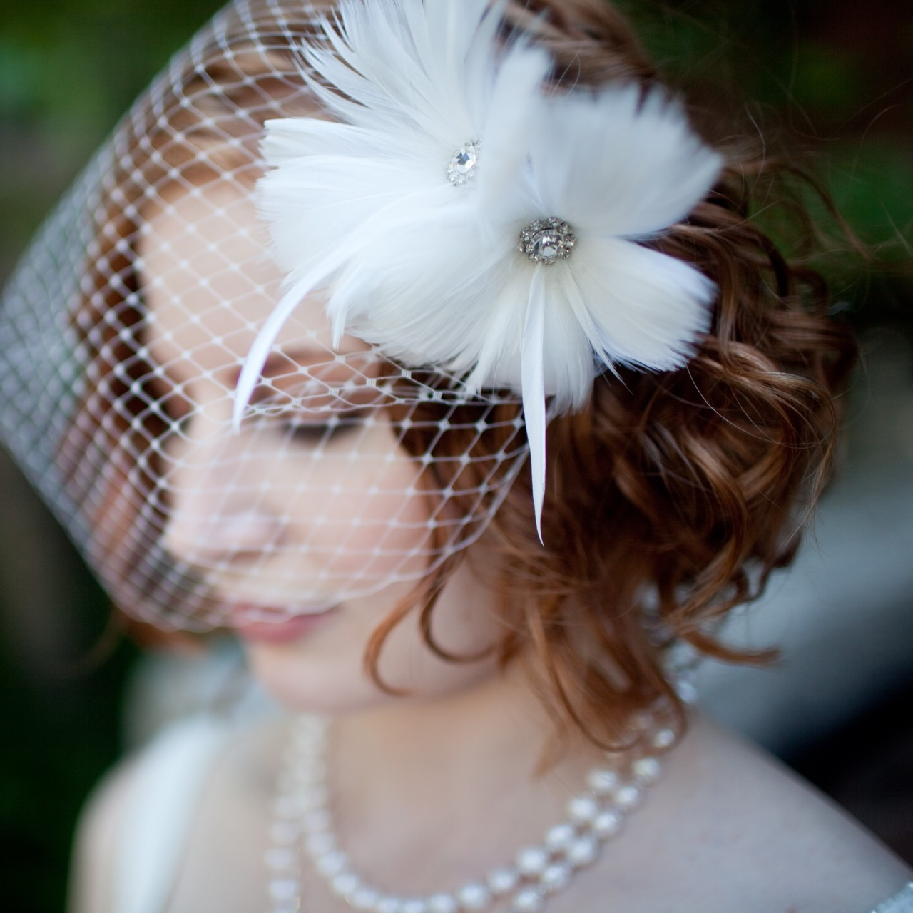 10 Gorgeous Bridal Veils Wedding Hair Accessories Bethany Lorelle Birdcage Veil | OneWed.com
