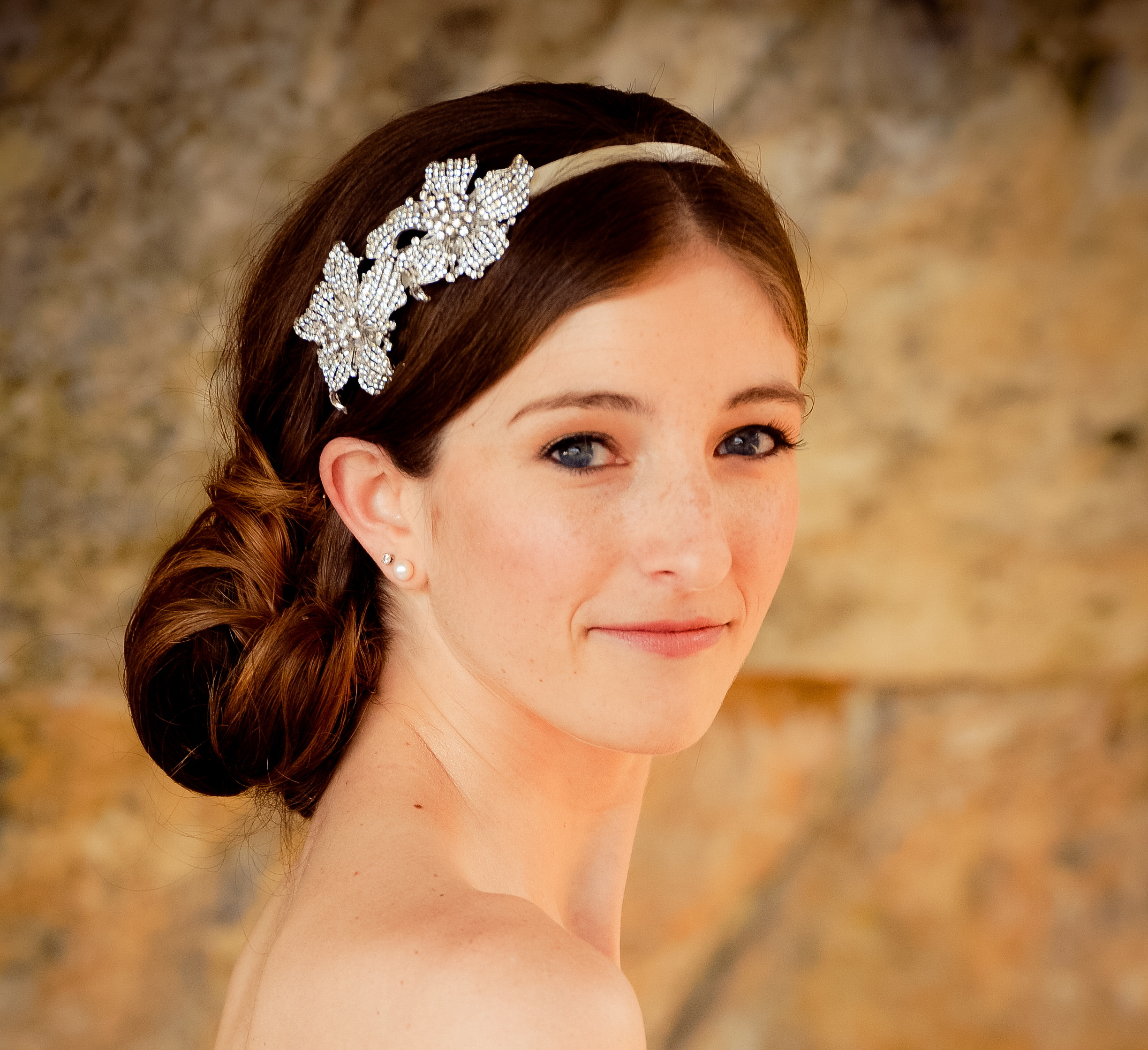 10 Gorgeous Bridal Veils Wedding Hair Accessories Embellished Headband | OneWed.com