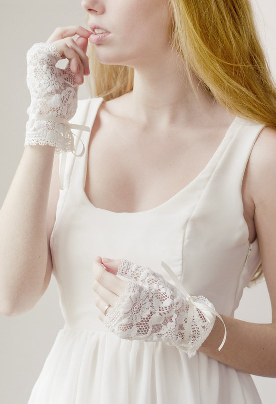lovely lace wedding lingerie bridal accessories gloves