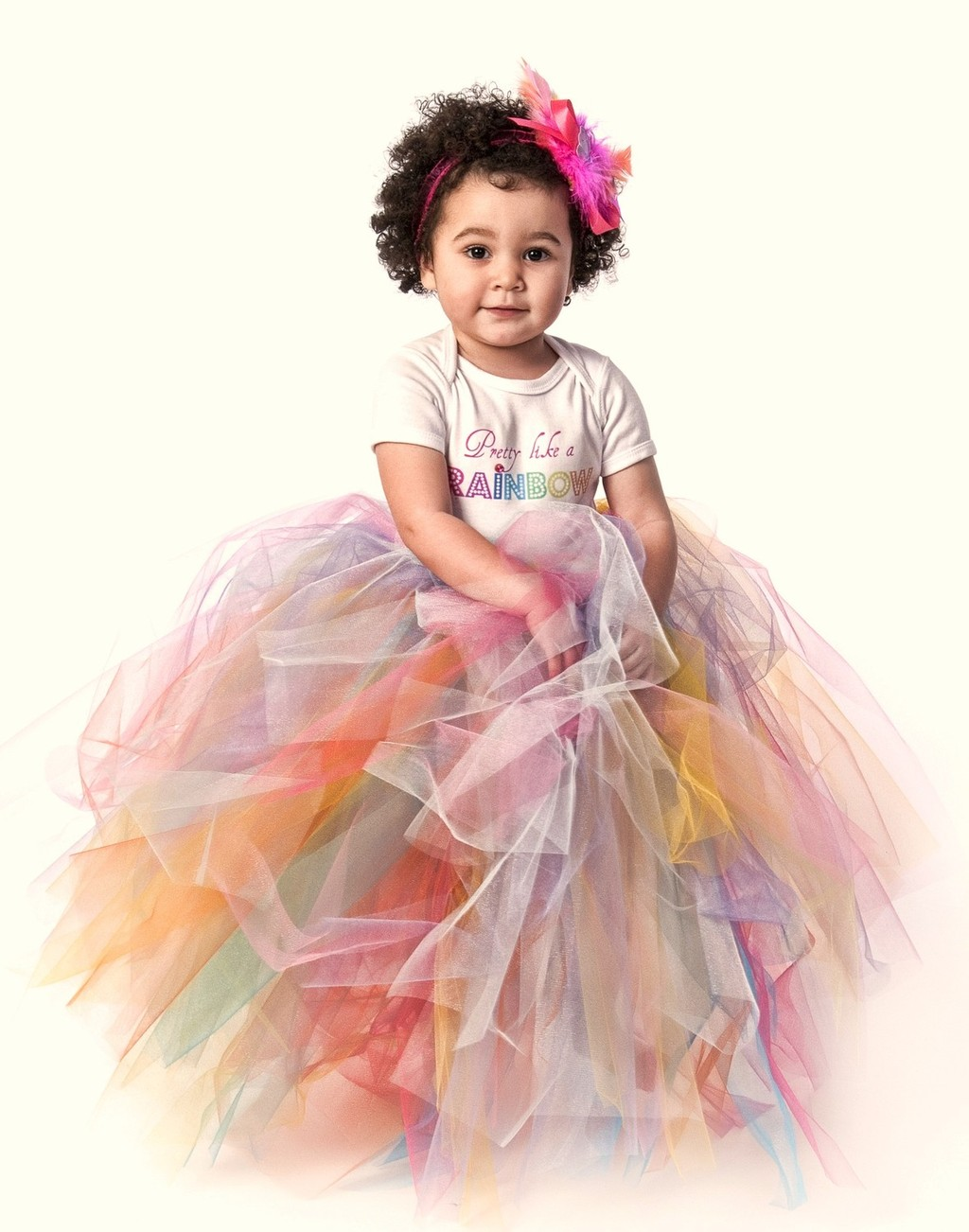 rainbow wedding inspiration adorable flower girl dress