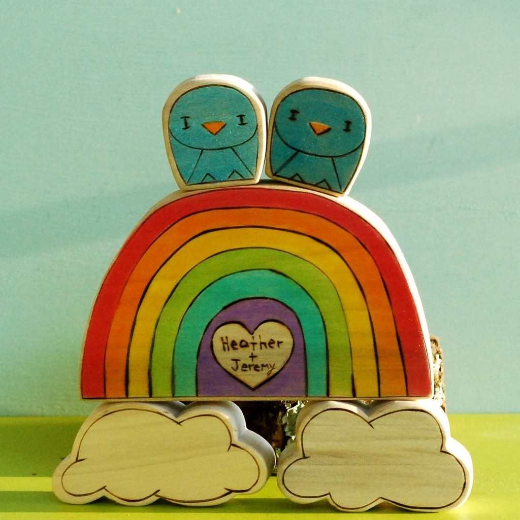 Rainbow-wedding-inspiration-cute-cake-topper.full