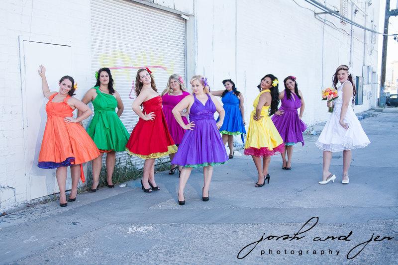Rainbow Wedding. Rainbow Wedding. Los Angeles Rainy Day Colorful ...