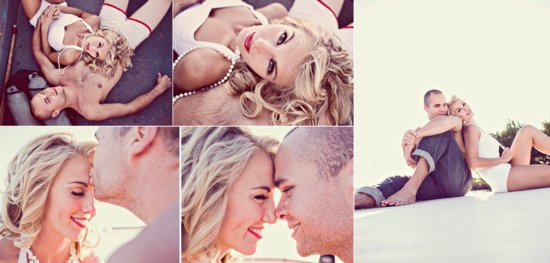 photo of marilyn monroe bride to be romantic vintage engagement session wedding photography 1
