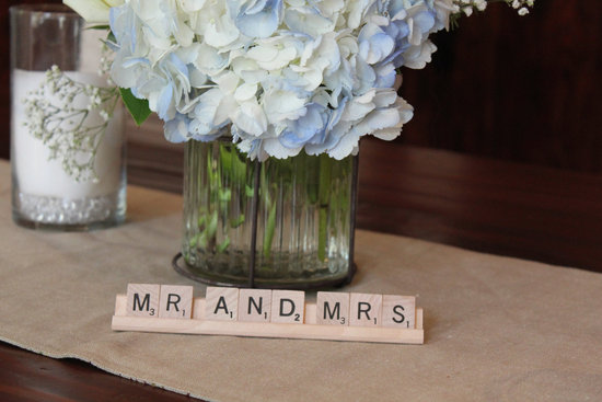 scrabble infused wedding decor handmade weddings 1