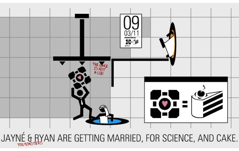 funny wedding invitations science geeks