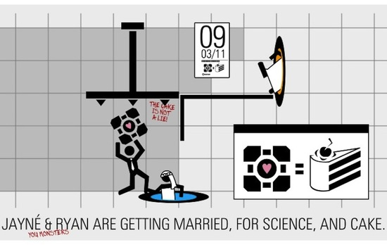 photo of funny wedding invitations science geeks