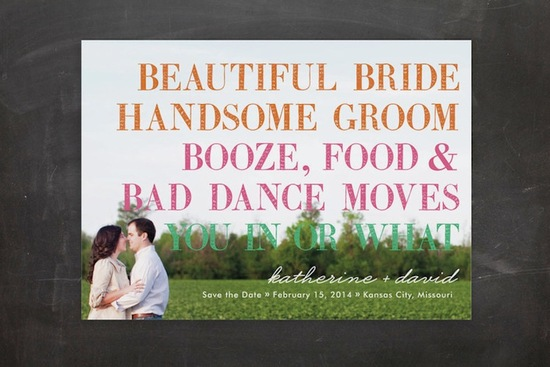 photo of funny wedding invitations minted