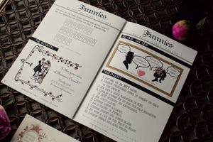 photo of cute funny wedding invitations newspaper themed 1
