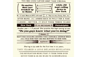 photo of funny wedding invitations love story infographic 3