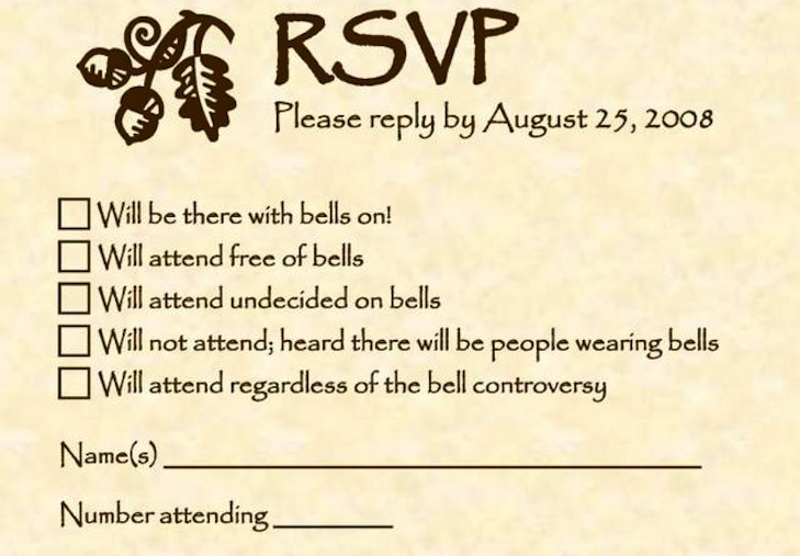 Love this! funny wedding invitations RSVP #Offbeat