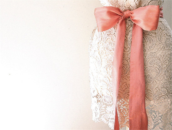peach wedding pretties for romantic weddings silk dupioni sash