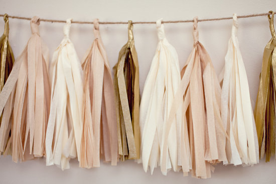 peach wedding pretties for romantic weddings paper garland