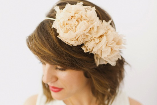 peach wedding pretties for romantic weddings halo hair flowers headband