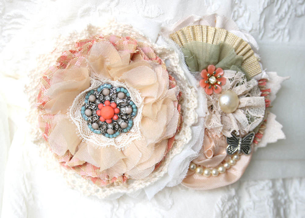 peach wedding pretties for romantic weddings handmade bridal sash