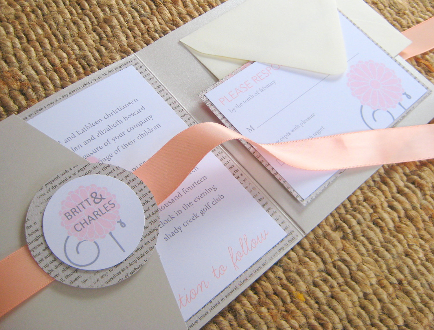 peach wedding pretties for romantic weddings elegant invitations