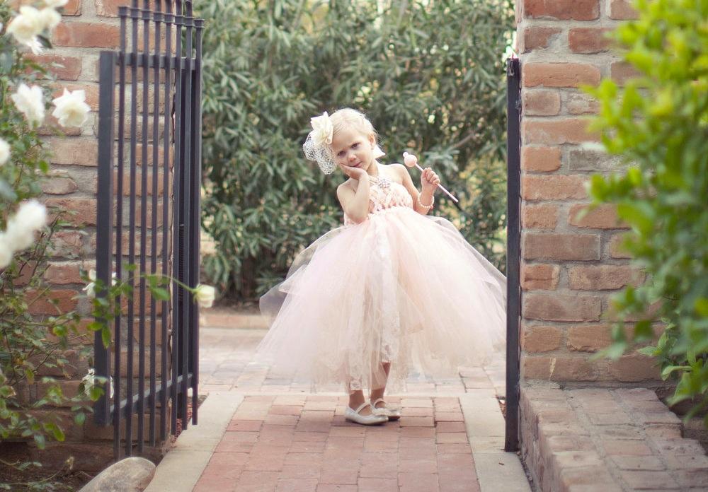 Peach Wedding Pretties For Romantic Weddings Flower Girl Dress