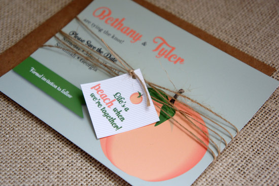 peach wedding pretties for romantic weddings invitations