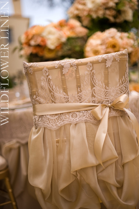 wedding reception decor inspiration pretty wedding chairs Wildflower Linens lace